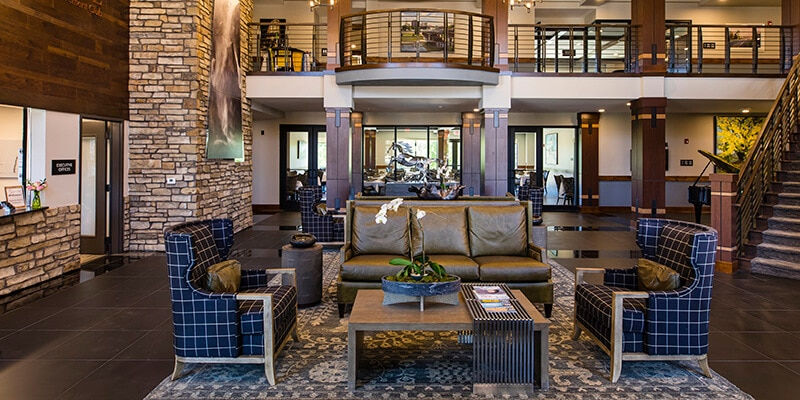 Lobby of the Boutique Retirement Club at Ironhorse